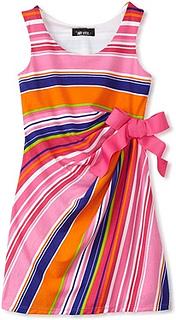 Knit Sleeveless Faux Wrap Dress for Girls