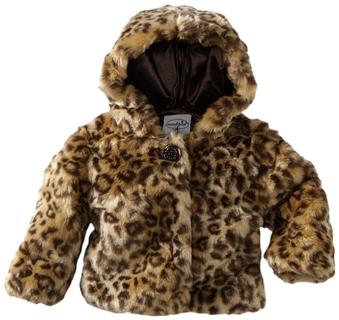 Mud Pie Baby-Girls Infant Leopard Faux Fur