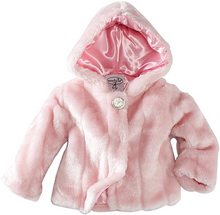 Mud Pie Baby-girls Infant Faux Fur Coat