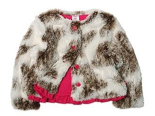Zutano Girls 2-6X Shaggy Jacket
