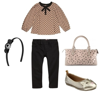 fashionable outfit for little girl