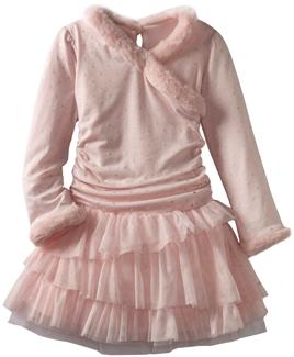 Biscotti Girls 2-6X Winter Fairy Pink Dress