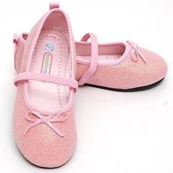 Luna International Pink Glitter Shoes Toddler