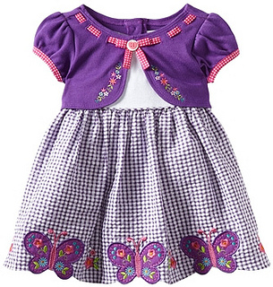 Youngland Girls 2-6X Scalloped Hem Butterfly Dress