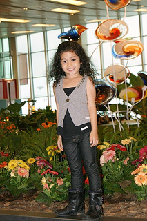 fashion girl little model wearing vest and pants