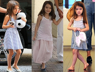 How Suri Cruise Wears Stripes Dresses