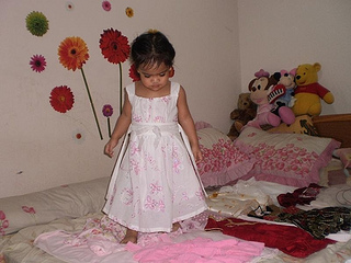 Little Girl Choosing Her Own Outfit