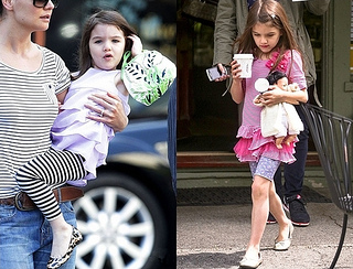 Suri Cruise Wears Stripe Leggings and Stripe Top