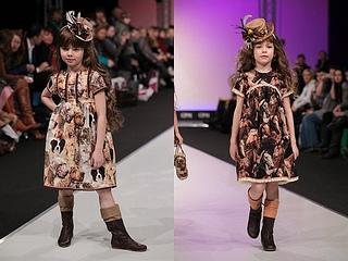 high fashion for little girls Graci fall-winter 2013 animal print dress