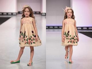 high fashion for little girls Graci fall-winter 2013 nude rose dress