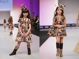 high fashion for little girls Graci fall-winter 2013 safari print dresses
