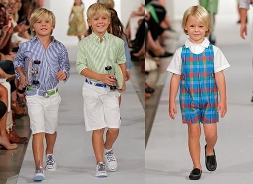oscar de la renta spring 2012 runway for children boys