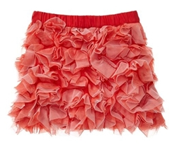 Contrast tulle skirt for girls