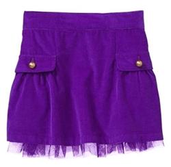 Corduroy tulle skirt