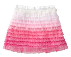 Ombre tulle skirt for girls