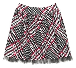 Plaid tulle skirt