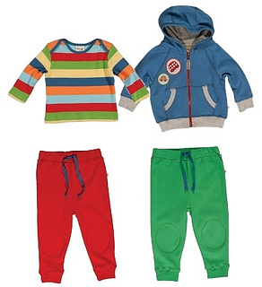 Rainbow Top with Kneepatch Crawlers for Babies