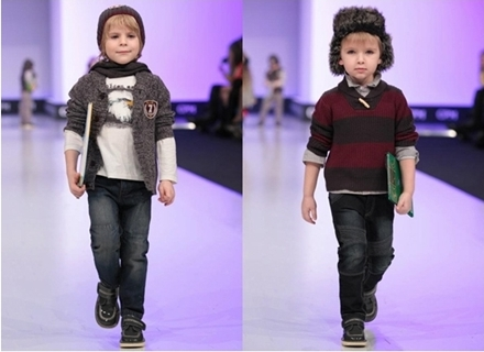 winter fashion for boys - layered sweater and dark jeans