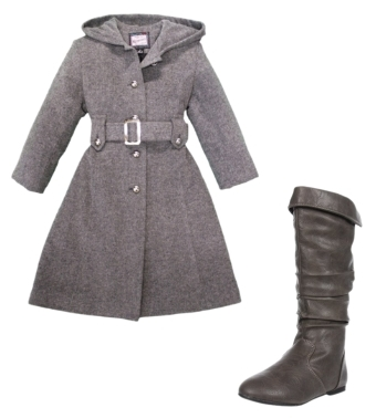 Girls Fully Lined Wool Coat
