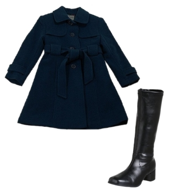 Girls Wool Trenchcoat