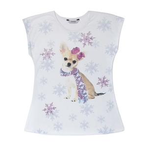 Snowflake Print Top for Girls