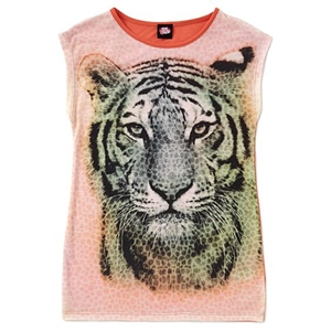 Tiger Print Jersey Top for Girls