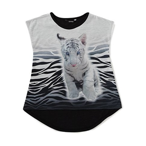Tiger Print Top for Girls