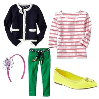 colored jeans and cardigan jacket for girls