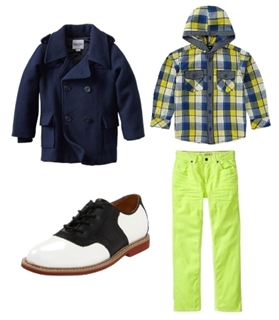 plaid shirt and colored jeans for boys