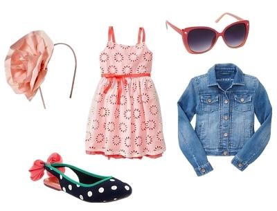 Neon eyelet dress for girls