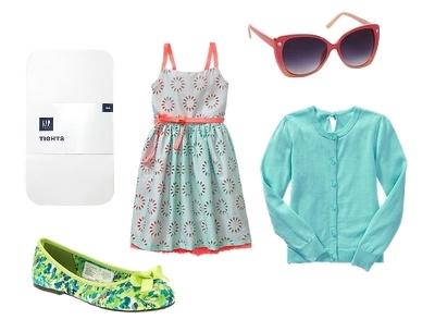 Neon green eyelet dress for girls