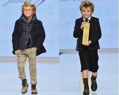 spring runway fashion trend for boys - plaid