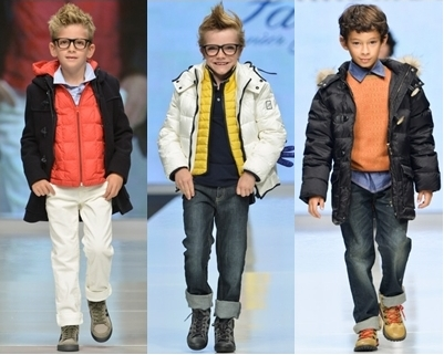 spring runway trend for boys - color pop layering
