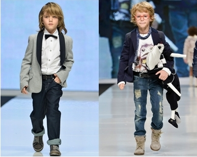 spring runway trend for boys - jacket and jeans
