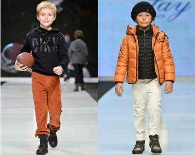 spring runway trend for boys - orange with neutrals
