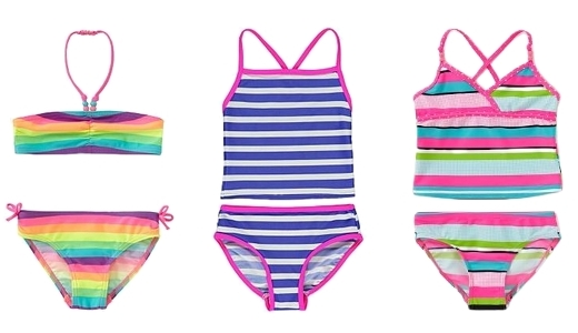 Striped swimsuits for kids