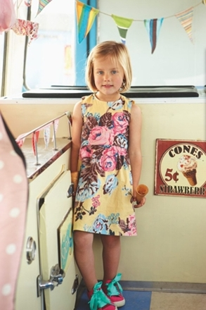 fashion for kids floral dress with sneakers