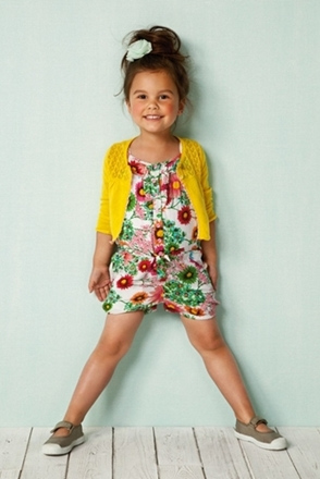 fashion for kids floral print romper