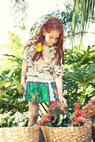 fashion for kids floral print skirt