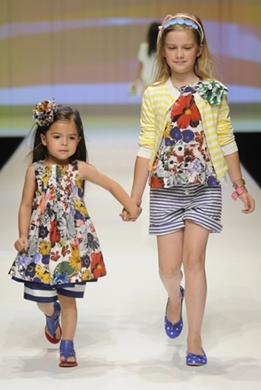 fashion for kids floral with stripes