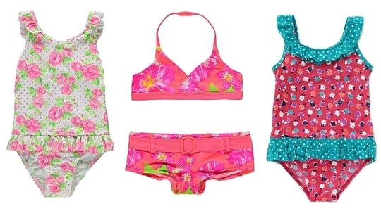 floral print swimsuits for kids