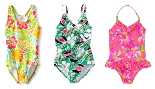 tropica print swimsuits for kids