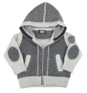 Dolce & Gabbana Two-tone Wool Hooded Jacket
