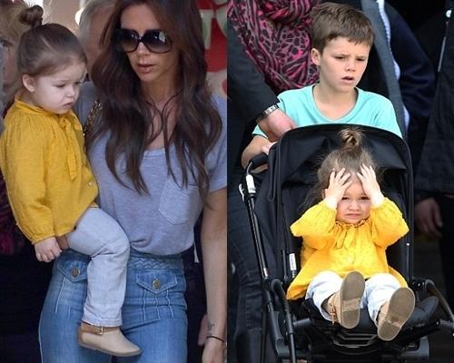 Harper Beckham Wears Bright Yellow Top