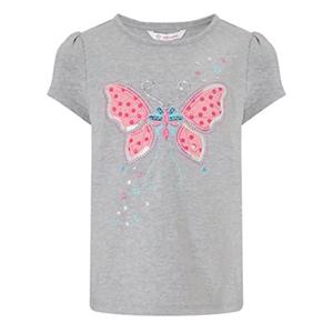 John Lewis Girl Butterfly T-Shirt