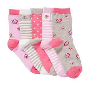 John Lewis Girl Vintage Rose Socks