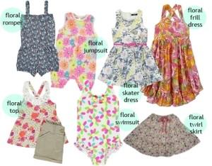 Striking Summer 2013: Five Essential Floral Prints for Kids Girls