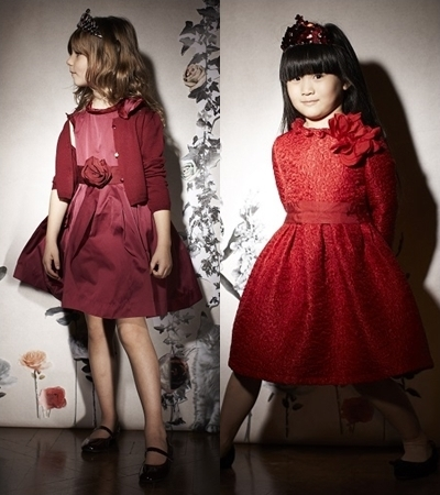 Lanvin Petite Winter 2013 fit and flare dresses for girls