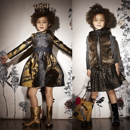 Lanvin Petite Winter 2013 wild print satin for girls