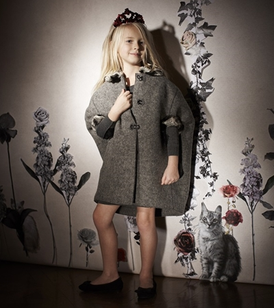 Lanvin wool coat for girls